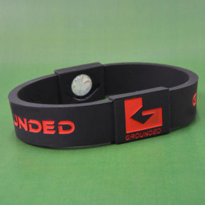 Grounded Energetic Wristband (Black/Red) - Watch it! Pte Ltd