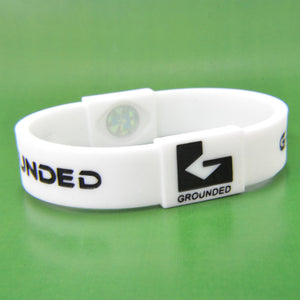 Grounded Energetic Wristband (White/Black) - Watch it! Pte Ltd