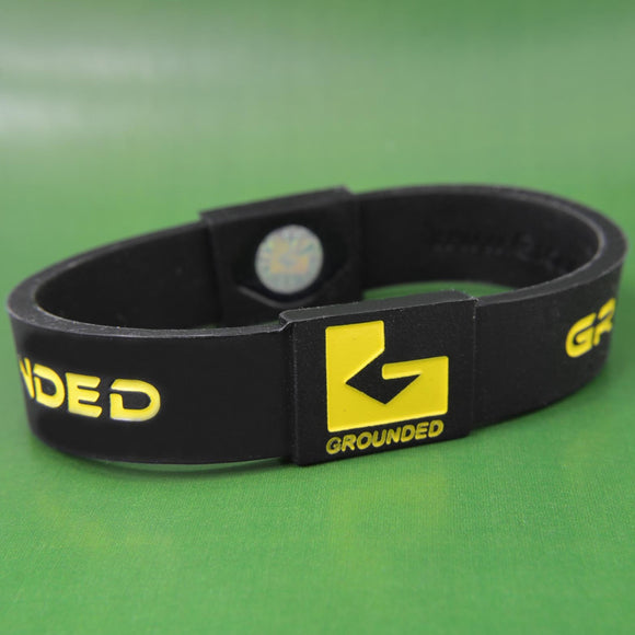 Grounded Energetic Wristband (Black/Yellow) - Watch it! Pte Ltd