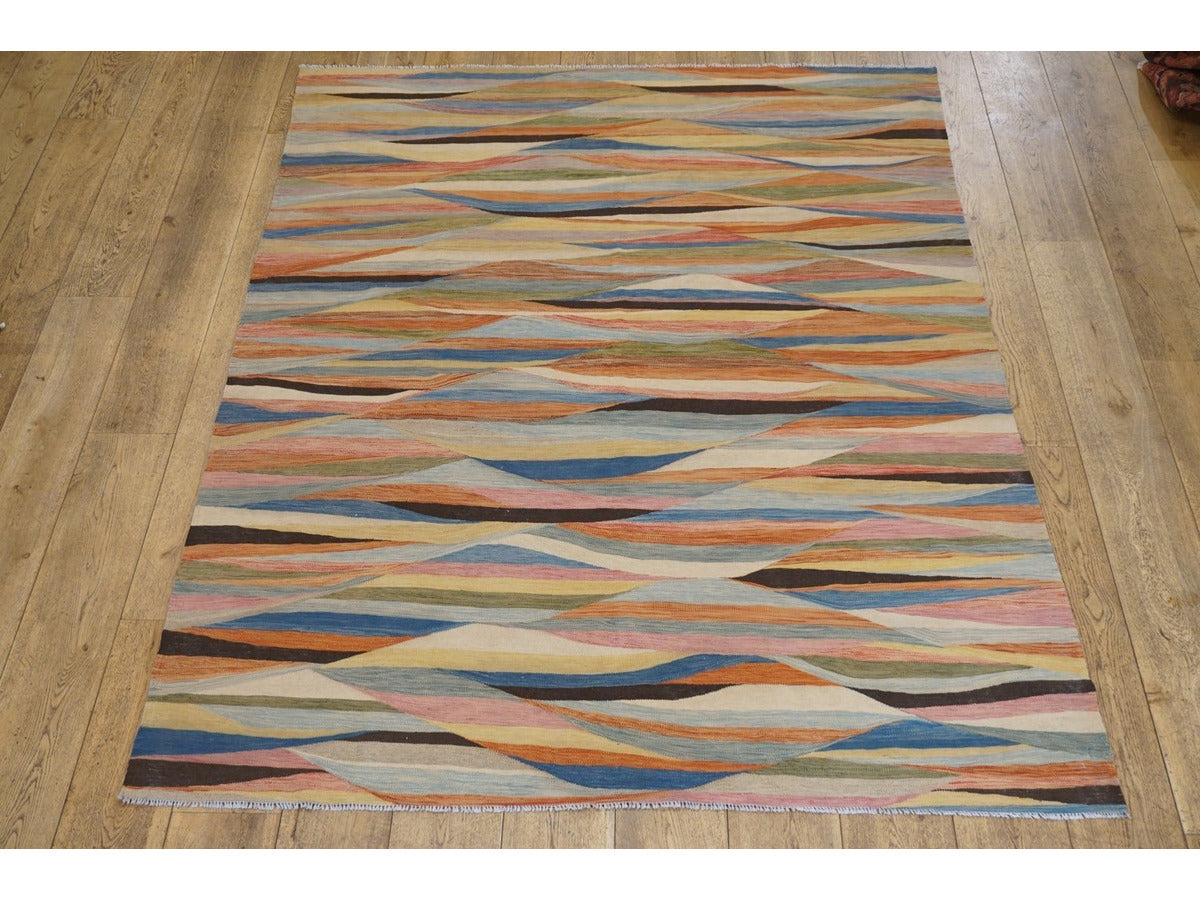 Khyber Kilim Carpet - Rugs of Petworth