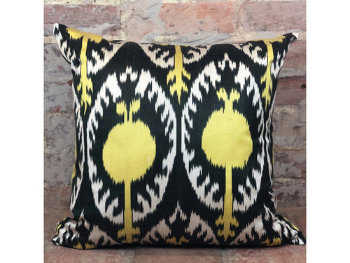 Silk Ikat Cushion - Rugs of Petworth