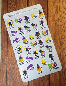 Hallow Kitty Countdown Stickers