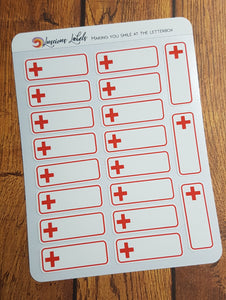 Blood Donation Blood Bank Red Cross Medical Stickers