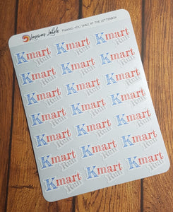 K-mart Run Stickers