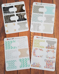 Patterned Planner Tabs