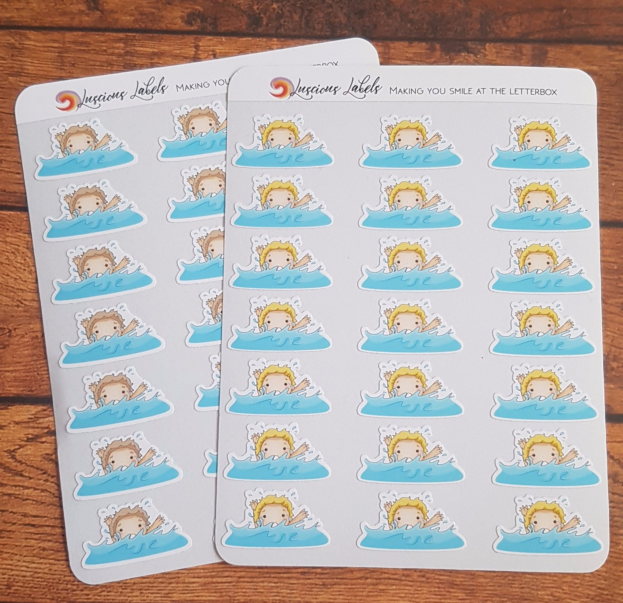 Swimming Child Stickers