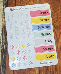 Date Covers - Summer Days
