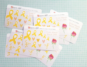 Endometriosis Awareness 'Endo March' Stickers