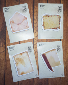 Aged Paper Goods Adhesive Notes