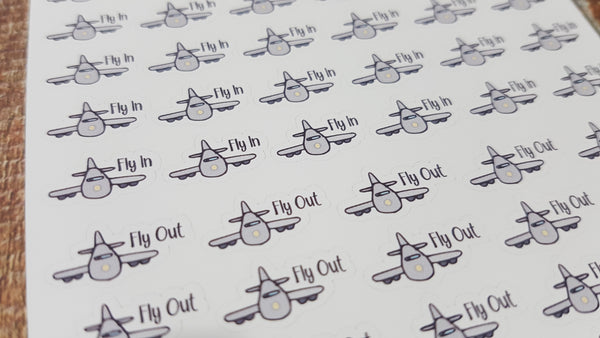 FIFO - Fly In Fly Out Stickers