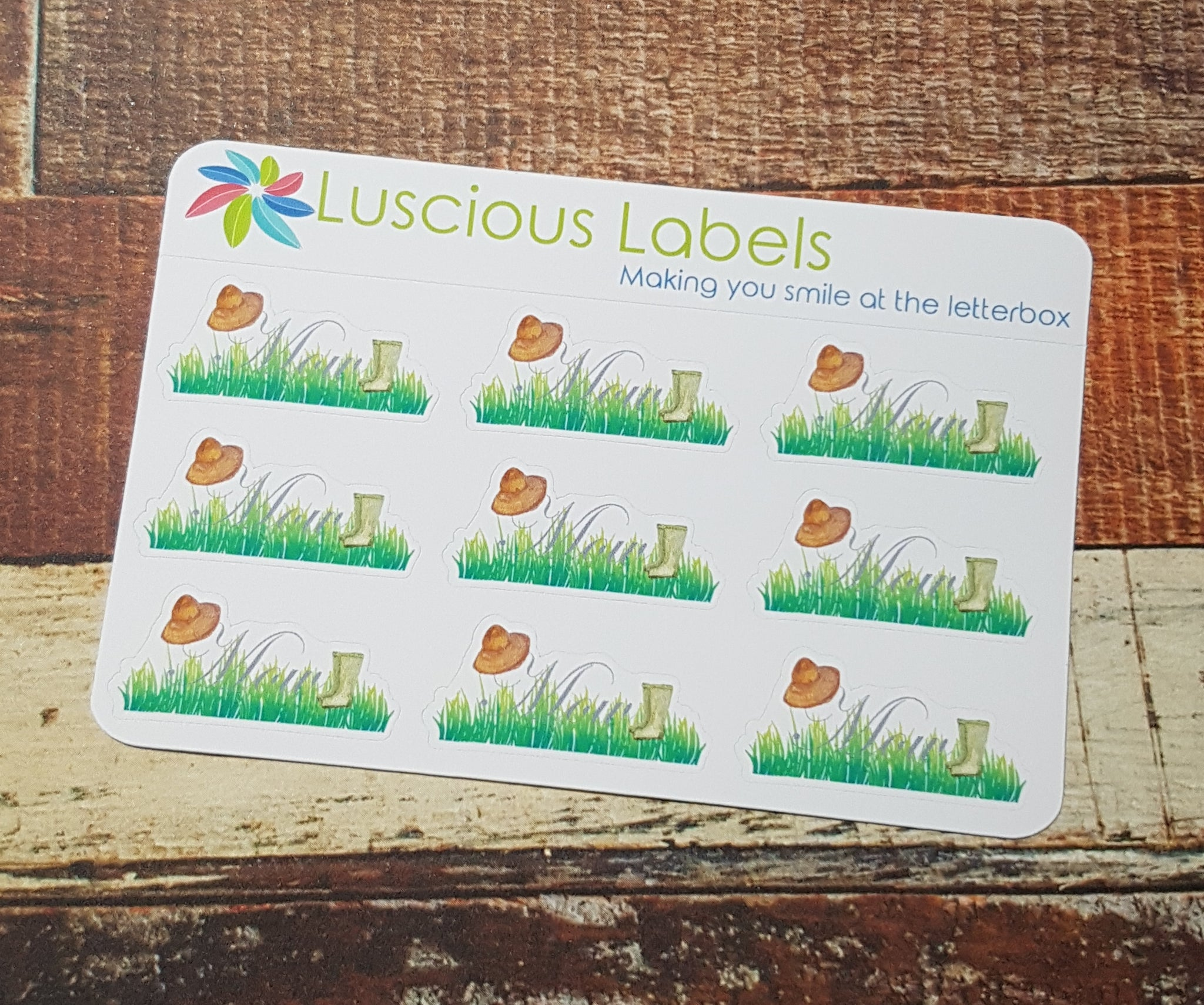 Lawn Mowing Stickers