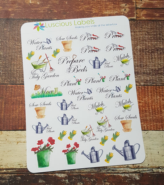 Mixed Gardening Stickers