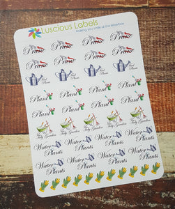 Mixed Gardening Chore Stickers