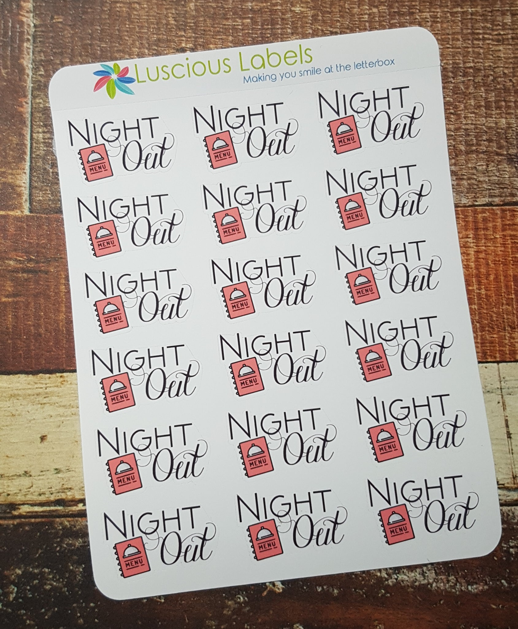 Night Out Stickers