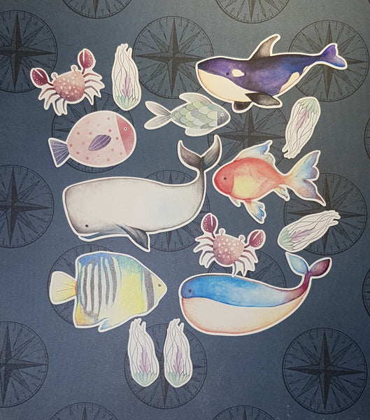 Ocean Life Die Cut Packs