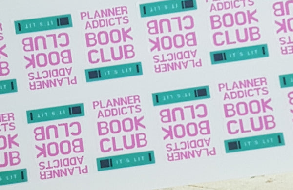 Planner Addict Book Club Reminders