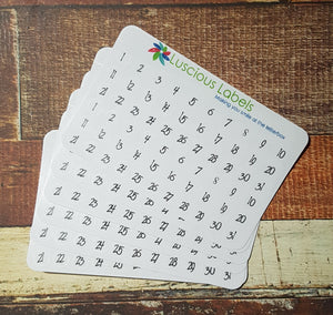 Date Dots for Undated Planner Inserts  0.9cm