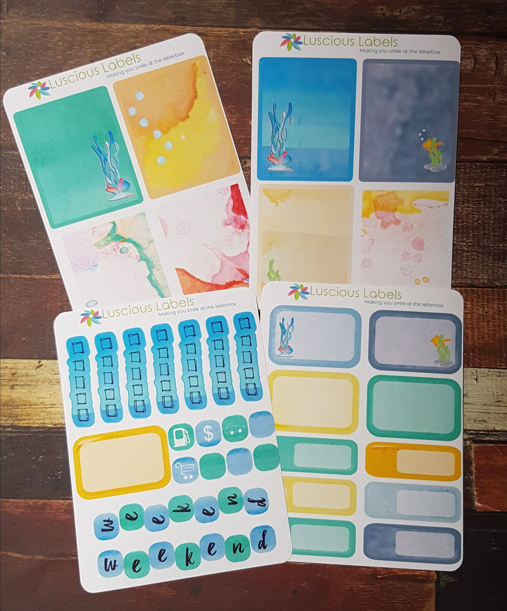 Under the Sea Weekly kit to suit Erin Condren Inserts