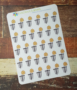 Netball Game Day Reminder Stickers