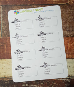 Flight Detail | Travel Stickers for Planner Inserts