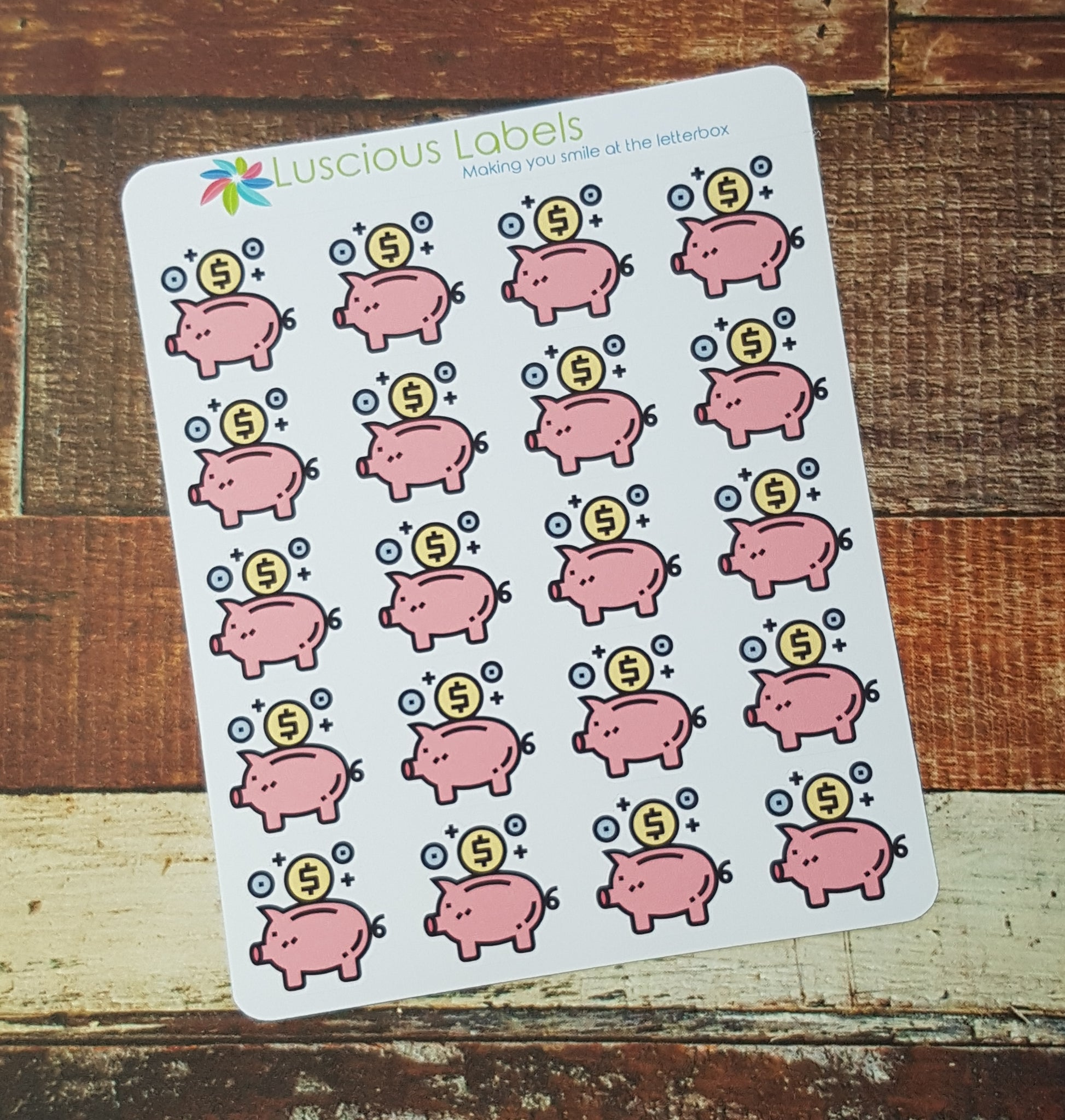 Piggy Bank Stickers