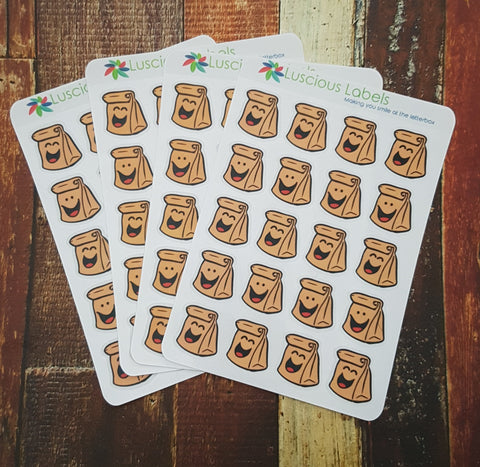 Paper Bag/Lunch Order Stickers (80)