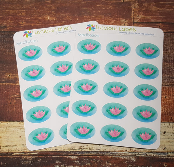 Watercolour Meditation & Relaxation Stickers