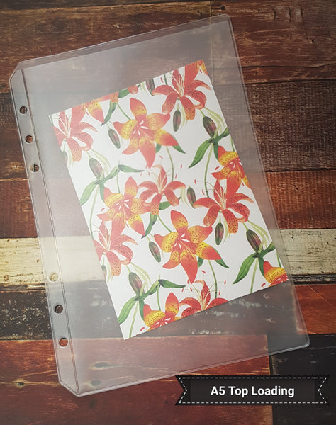 A5 Planner PVC Pockets | Top Load | Credit Card | Zip