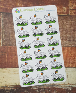 Feel grass under my feet Stickers