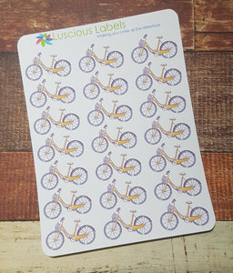 Ladies Bicycle Stickers