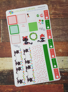 Weeks Kits for Small Planners - Angry Kitty Christmas