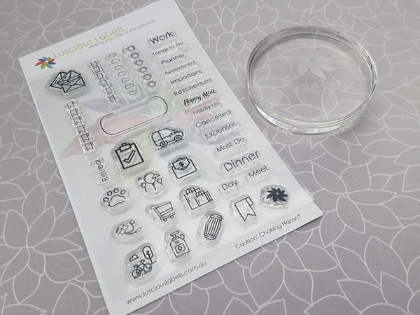 Luscious Labels Acrylic Stamp Block - Limited Stock!