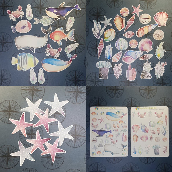 Ocean Life Decorative Stickers