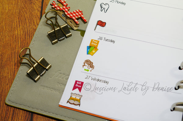 Mini Icon Bed Guest Planner Stickers