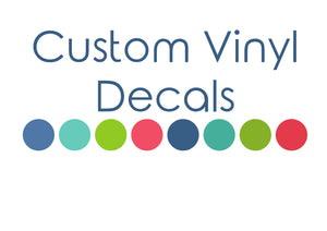 Personalised Vinyl Decals for Planners, Cars, Drink Bottles and more!