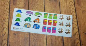 Camping Road Trip Vacation Holiday Stickers for Planners