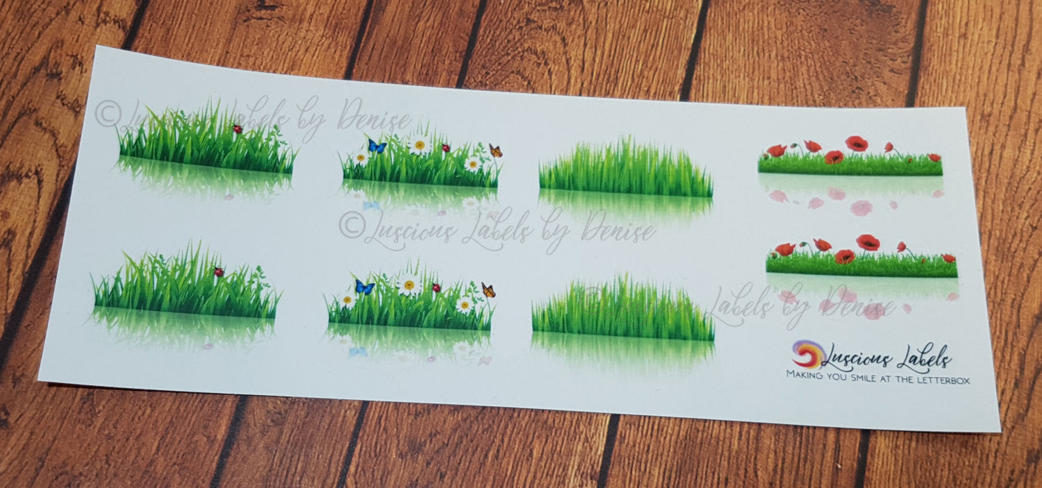 Grass Reflection Decorative stickers to suit Erin Condren inspired inserts