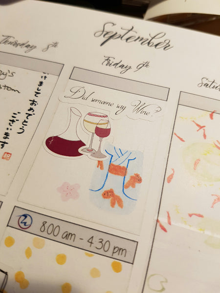 Wine Time Planner Stickers