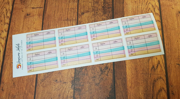Diabetic Planner stickers for Diet Controlled, Type 1 and Type 2 Diabetics | Insulin |
