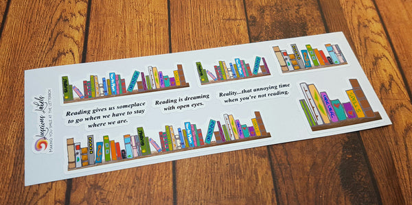 Book Shelf Planner Stickers | Reading | Books