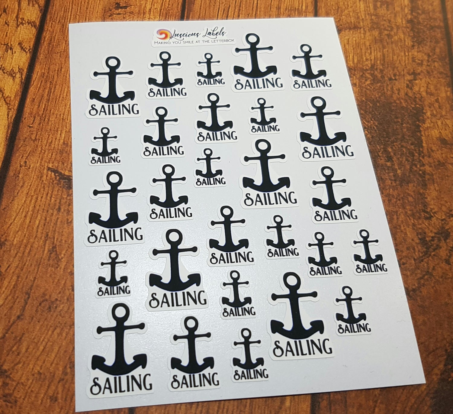 Anchor Sailing Navy Planner Stickers