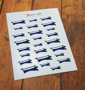Australian Navy Sailor Hat Planner Stickers