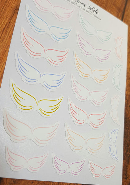Delicate Wing Memorial Stickers for remembering Loved ones