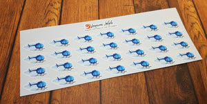 Helicopter Planner Stickers