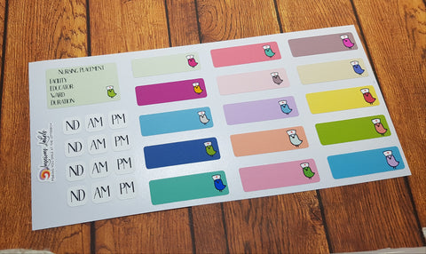 Nursing Placement Stickers