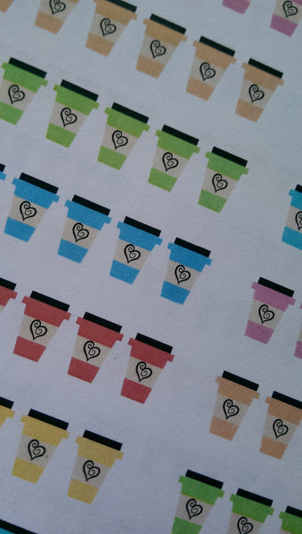 Coffee Tracking Stickers