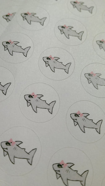 Shark Week Stickers - Period Tracking Icons