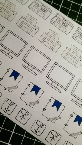 Pick and Mix Hand Drawn Icons