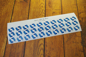 Blue Asthma Puffer Stickers