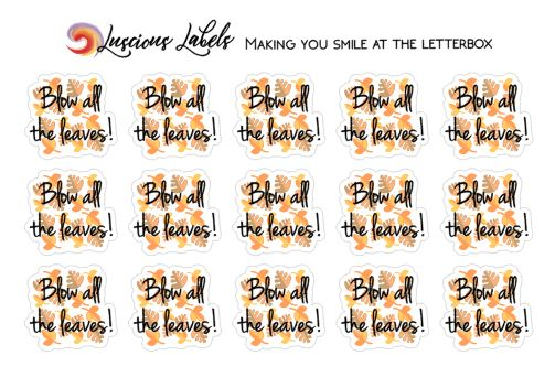 Leaf Blowing Planner Stickers